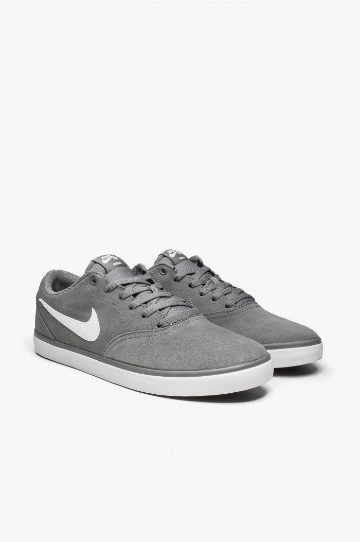 Zapatillas Nike SB Check Solarsoft GrisBlanco Hombre Venta